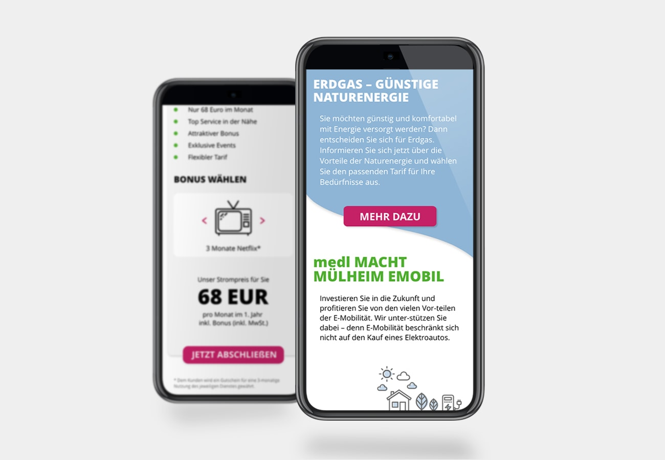 medl - Mobile Website für Energieversorger in Mühlheim